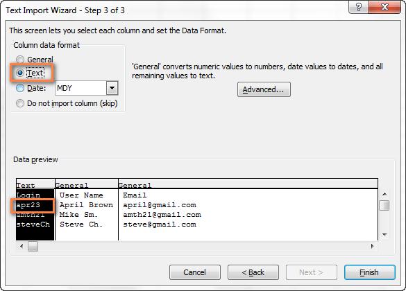 Импорт CSV с переносом строки в Excel 2007