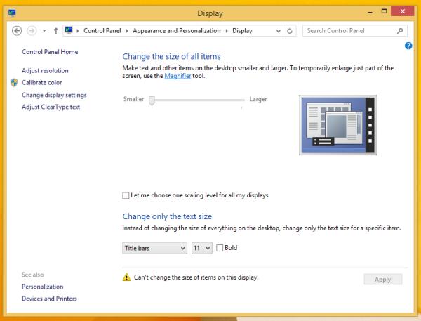 Как в Windows 8 и 8.1 сделать шрифт на экране больше