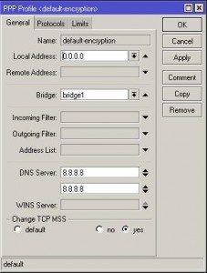 При VPN подключении к PPTP серверу на Mikrotik не видна локальная сеть