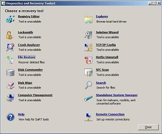 Решение проблем с Windows при помощи инструментов MsDaRT 7.0 (бывший ERD Commander)