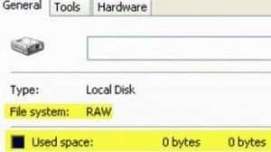 Файловая система raw — что это?