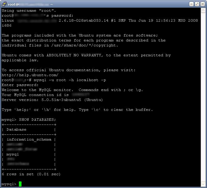 Как зайти в MySQL и запрос к базе данных из терминала Linux