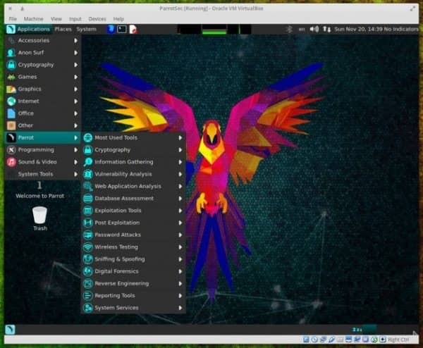 Обзор parrot security os