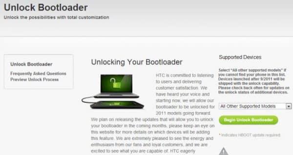 Разблокировка загрузчиков (bootloader) htc - инструкция